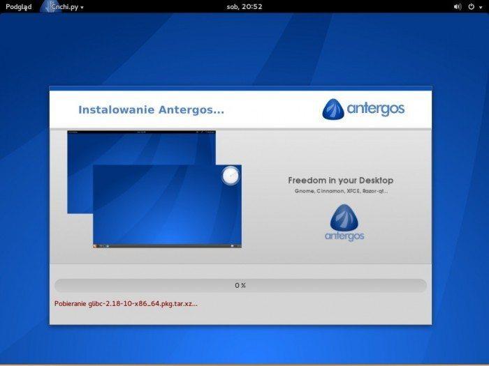 Antergos 2013.11.17 - proces instalacji