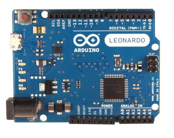 Arduino Leonardo - przód