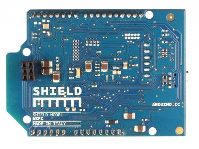 Arduino WiFi Shield - tył