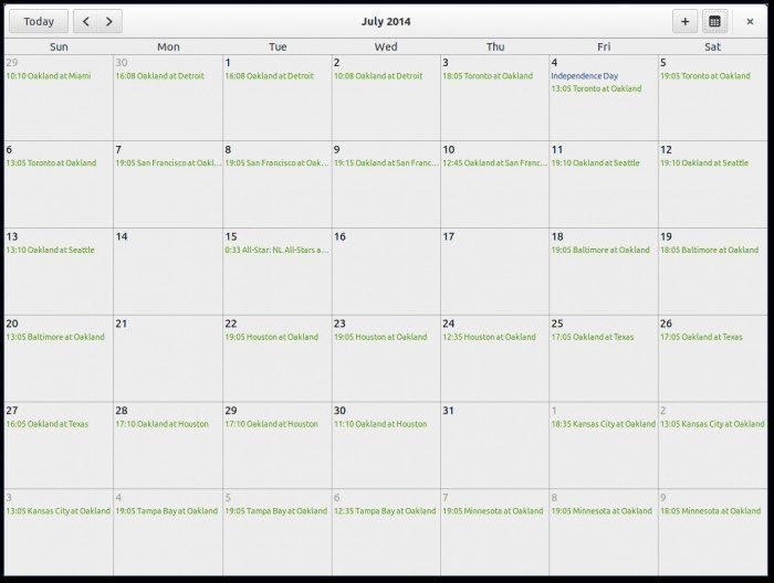California, nowy kalendarz dla GNOME 3 od Yorba Foundation
