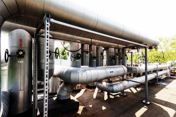 Centrum Informatyczne Świerk - główny rozdzielacz hydrauliczny