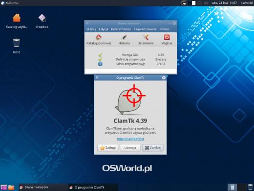 ClamTk 4.39 - okno główne