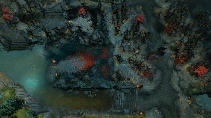 DOTA 2 update Rekindling Soul - dolny obszar Mrocznych