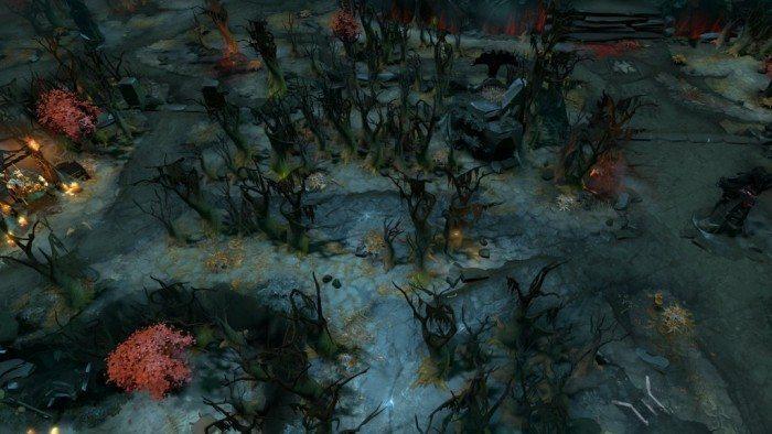 DOTA 2 update Rekindling Soul - obszar na lewo od drugiej dolnej wieży Mrocznych