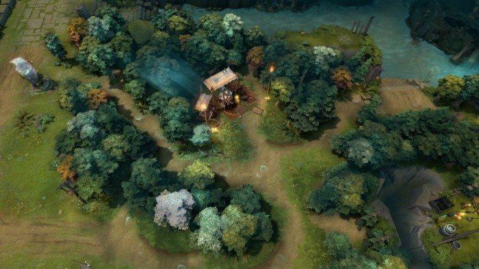 DOTA 2 update Rekindling Soul - obszar na prawo od pierwszej górnej wieży Świetlistych