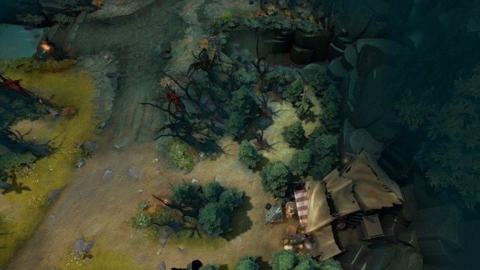 DOTA 2 update Rekindling Soul - obszar wokół dolnego sklepu Świetlistych