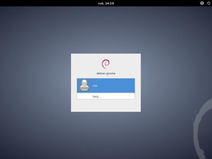 Debian 7.0 GNOME 3.4 - logowanie
