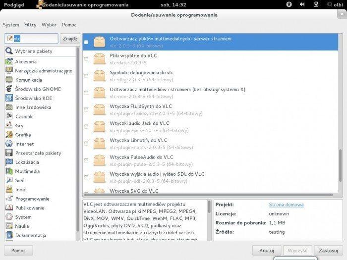 Debian 7.0 GNOME 3.4 - menedżer pakietów