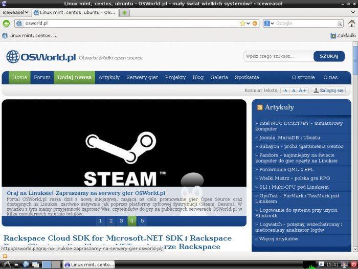 Debian 7.0 LXDE - przeglądarka internetowa
