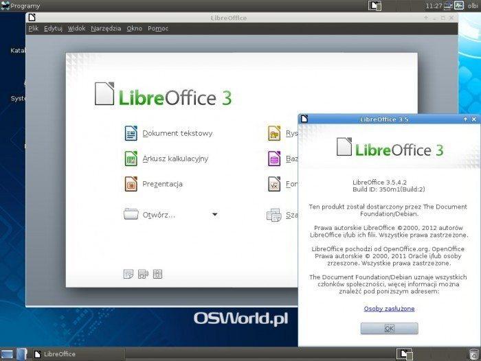 Debian 7.0 Xfce 4.8 - LibreOffice