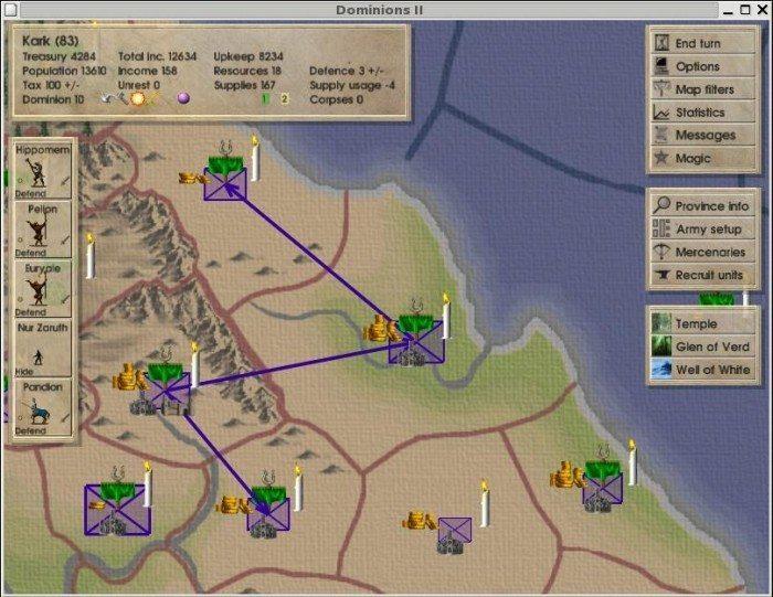 Dominions II: The Ascension Wars - mapa