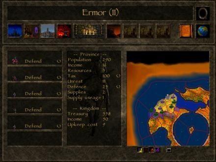 Dominions: Priests, Prophets & Pretenders - ekran główny