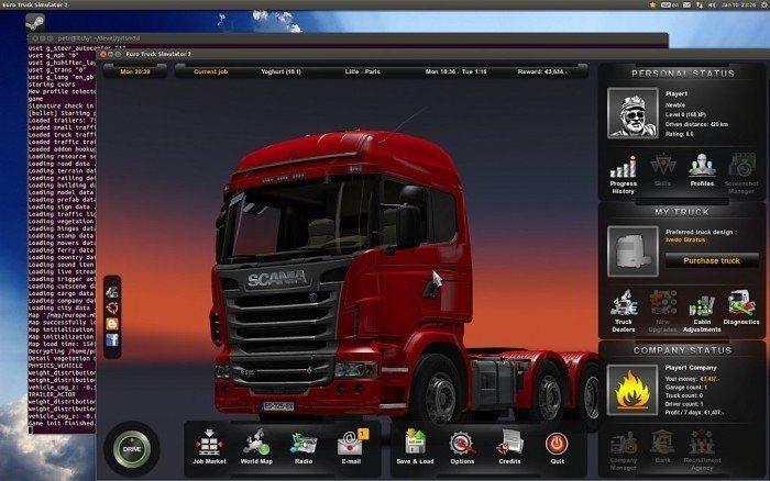 Euro Truck Simulator 2 na Linuksa