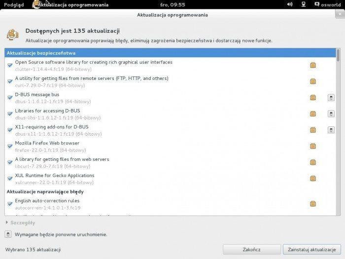 Fedora 19 - aktualizacja systemu