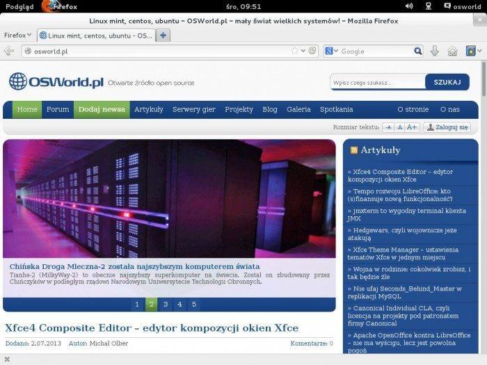 Fedora 19 - przeglądarka www