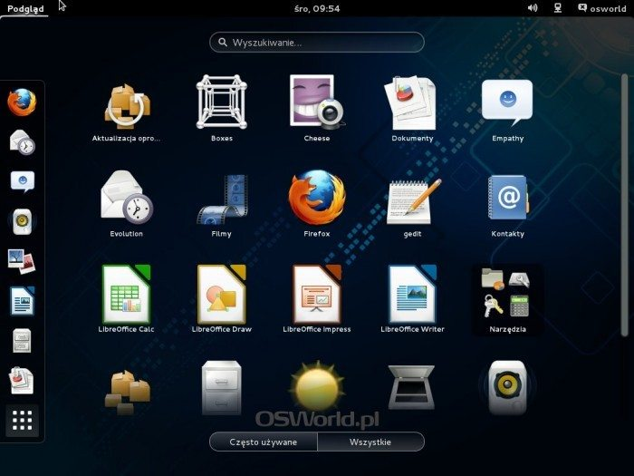 Fedora 19 - wybór aplikacji