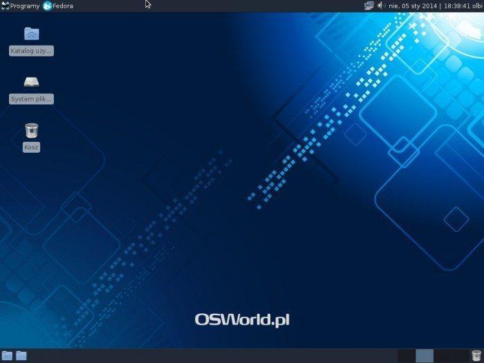 Fedora 20 Xfce - pulpit