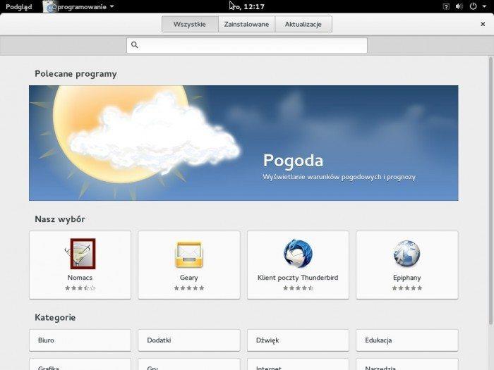 Fedora 21 - Oprogramowanie