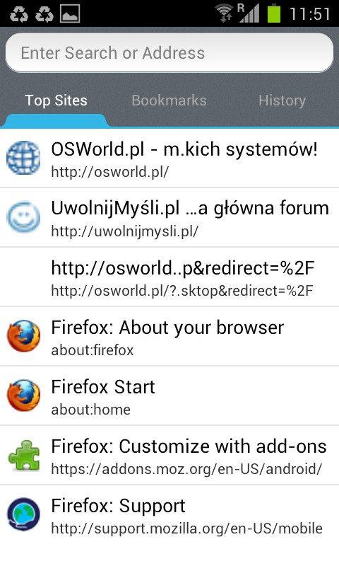 Firefox 14 Beta dla Androida