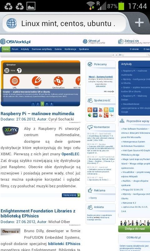 Firefox 14 dla Androida - natywny interfejs Androida
