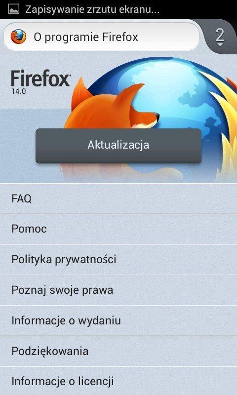 Firefox 14 dla Androida - o programie