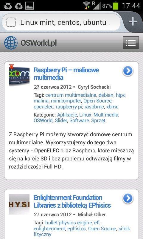 Firefox 14 dla Androida