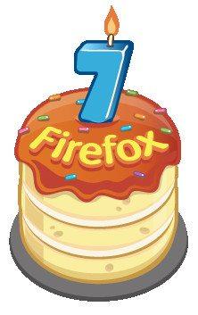 Firefox - 7 urodziny