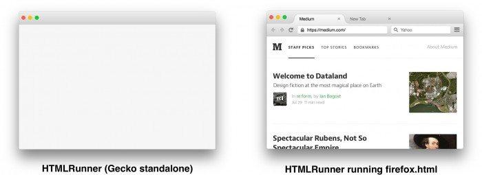 Firefox.html porównanie Gecko i Servo