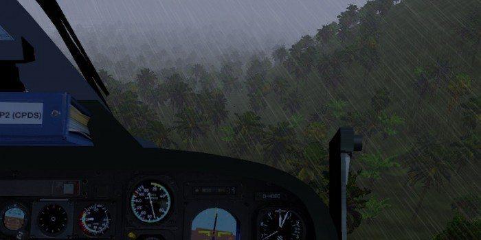 FlightGEar 2.12 - nowe efekty pogodowe