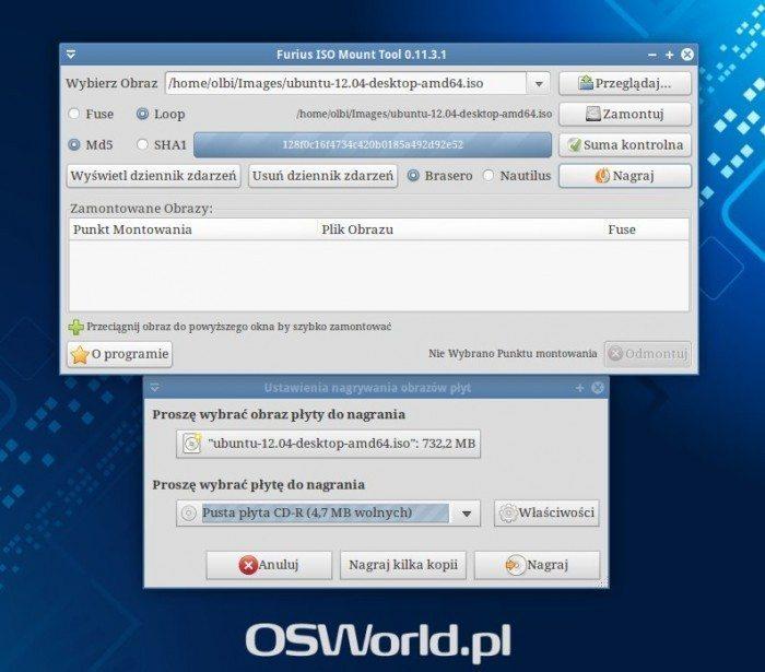 Furius ISO Mount - nagrywanie obrazu płyty