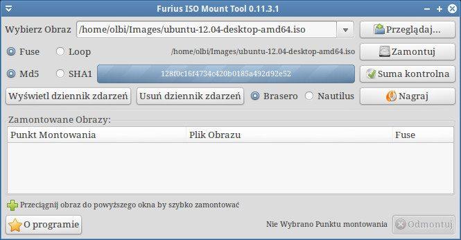 Furius ISO Mount - wyliczona suma kontrolna
