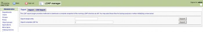 FusionDirectory - menedżer LDAP