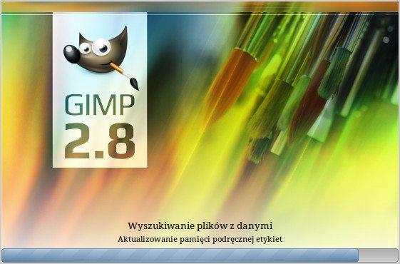 GIMP 2.8 - okno powitalne