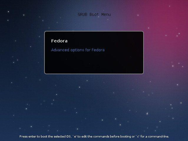 GRUB 2.0 - Fedora