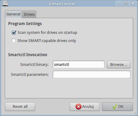 GSmartControl - Preferences - General