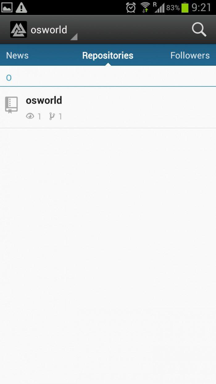 GitHub Android App - własne repozytorium