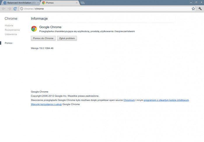 Google Chrome 19 - informacje o wydaniu