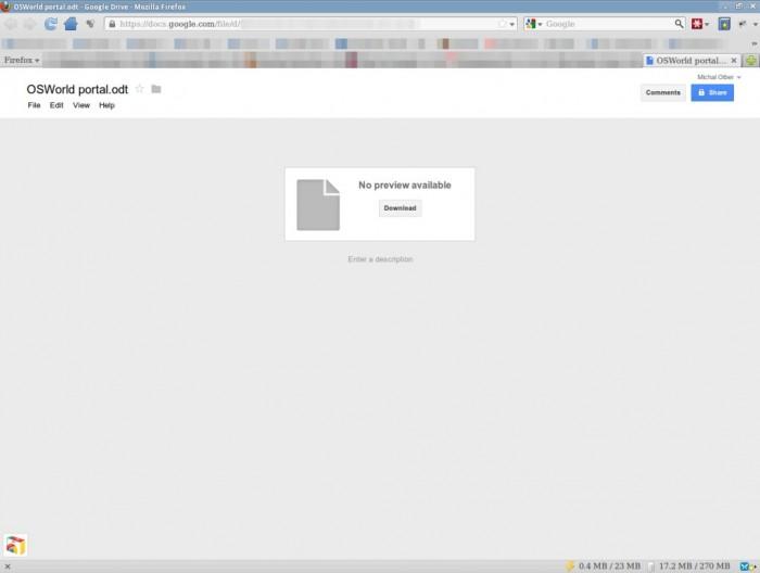 Google Docs - Google usunęło podgląd dokumentów ODF