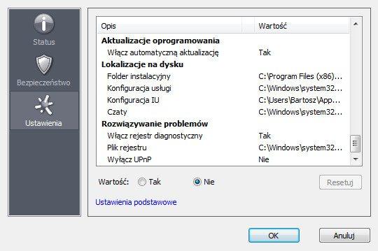 Hamachi - Windows - zaawansowane opcje