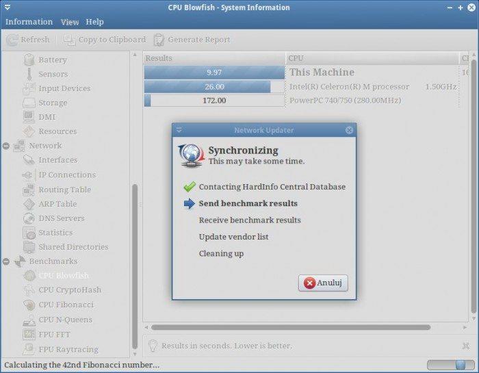 HardInfo - Benchmark - testowanie wydajności