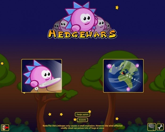 Hedgewars - menu główne