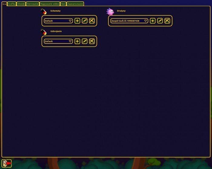 Hedgewars - ustawienia gry