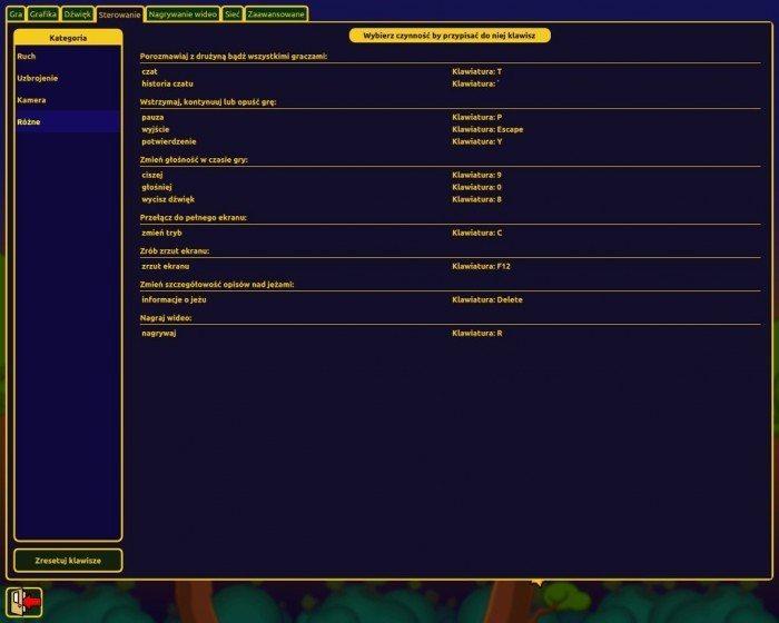 Hedgewars - ustawienia sterowania