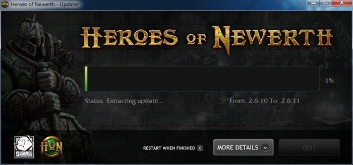 Heroes of Newerth - patch 2.6.11 - Windows 7 update