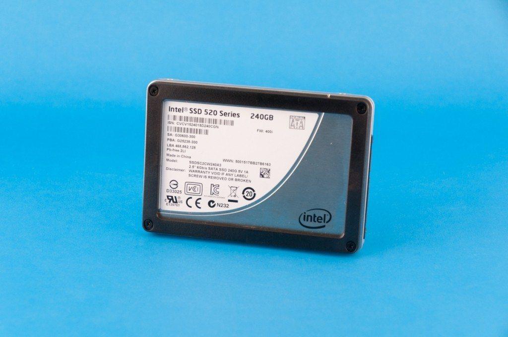 Intel SSD 520 - przód