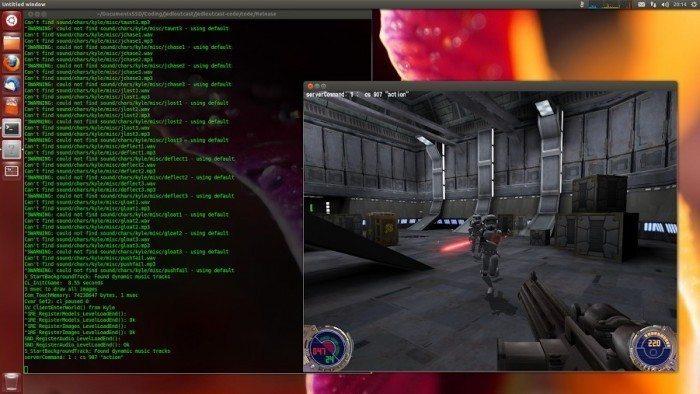 Jedi Knight II Jedi Outcast - udane pierwsze uruchomienie na Linuksie - gra