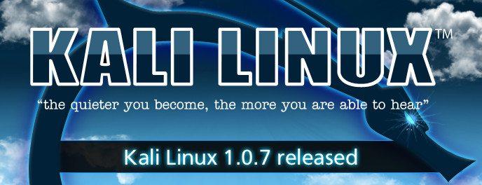 Kali Linux 1.0.7 - banner