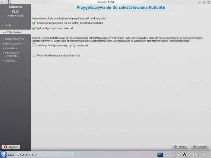 Kubuntu 13.04 - instalator