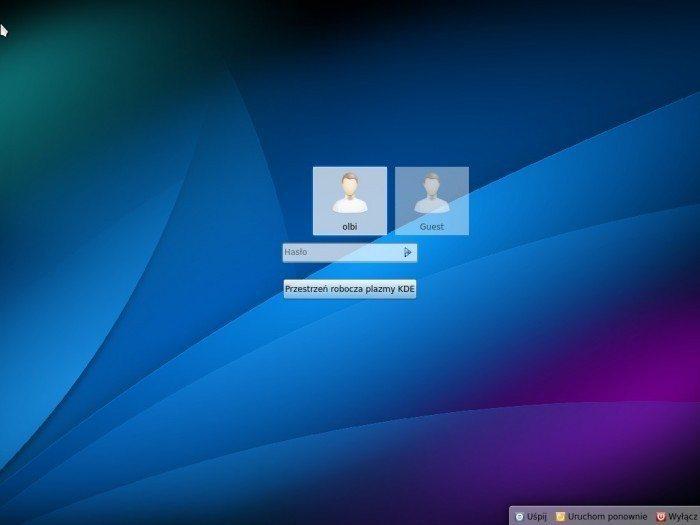 Kubuntu 13.04 - logowanie