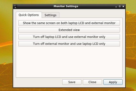 LXQt 0.8.0 - ustawienia monitora 1